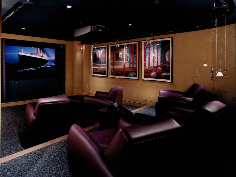 Cambridge 1 Post Renovation Custom Screening Room