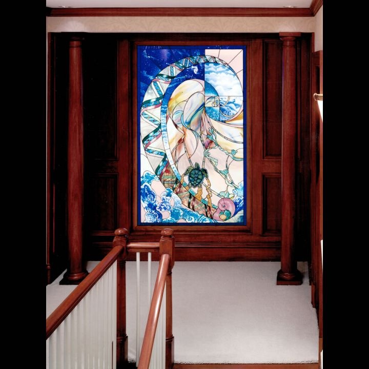 Cambridge 1 Second Floor Custom Millwork Design To Highlight Artwork