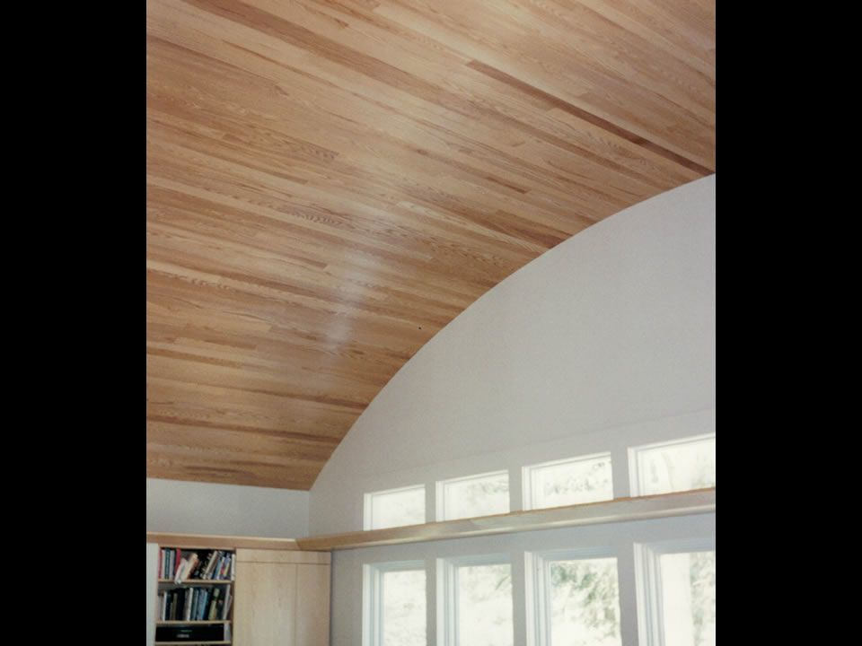 Custom Curved Oak Ceiling